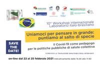 10° workshop internazionale Laboratorio italo-brasiliano - Uniamoci per pensare in grande: puntiamo al salto di specie