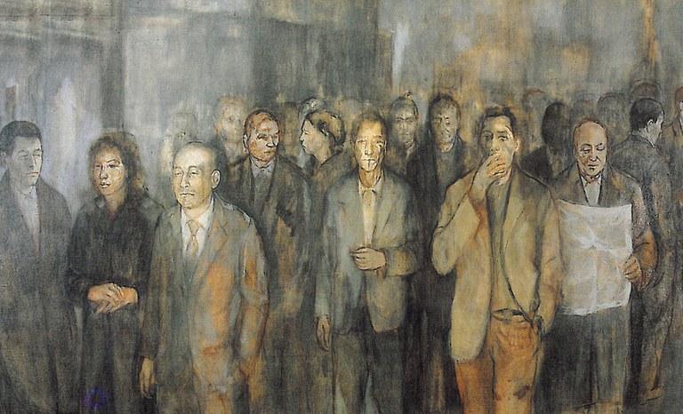 Luciano Caldari, La folla, Azienda Usl di Cesena