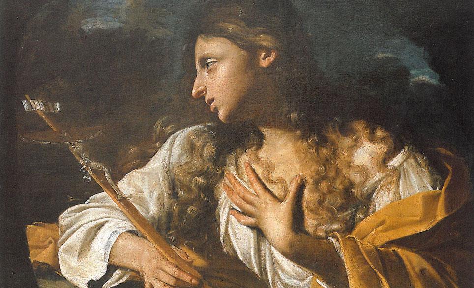 Pittore emiliano del XVIII secolo, S. Maria Maddalena in contemplazione del Crocifisso, Azienda Usl di Cesena