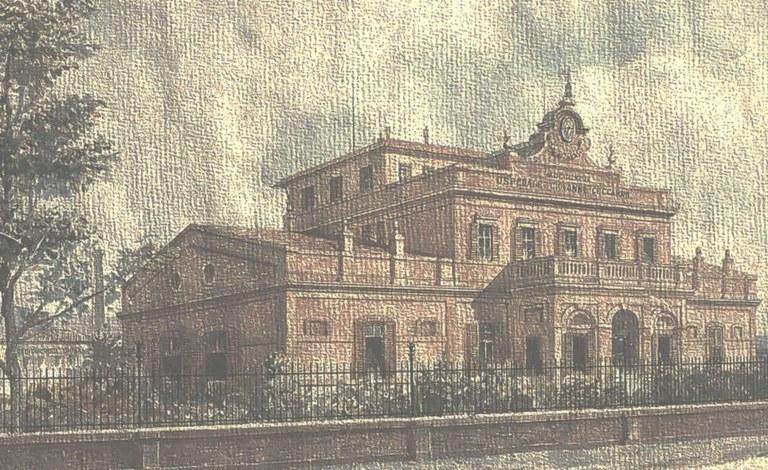 """M. Mancini """"veduta dell'Ospedale G. Ceccarini di Riccione"""", Ausl di Rimini"""