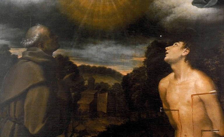 """Bartolomeo Cesi """"La Trinità con la Vergine e i Santi Bernardino e Sebastiano"""", Azienda Ospedaliero-Universitaria di Bologna"""