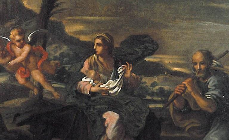 """Pittore modenese del XVII secolo """"Madonna col bambino, San Gregorio, San Lorenzo e le anime purganti"""", Azienda Ospedaliero-Universitaria di Bologna"""
