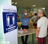 Checkpoint al Pronto Soccorso dell'Ospedale di Cona