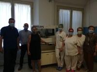 """Casa della Salute """"Terre e Fiumi"""": l'OsCo di Copparo riceve in dono un televisore dalla segreteria Spi-Cgil di Ferrara"""