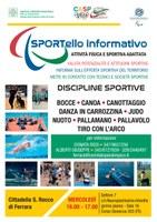 Cittadella S. Rocco di Ferrara Sport e disabilità: attivo lo Sportello per Attività Fisica e Sportiva Adattata