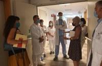 Le dirigenti delle due aziende sanitarie ferraresi in vista all'Ospedale del Delta