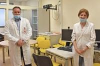 Il dr. Romeo e la dr.ssa Sarnelli direttori della Radioterapia e Fisica Sanitaria IRST IRCCS