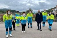 Il presidente Bonaccini in visita ai centri vaccinali di Mercato Saraceno (FC) e all'hub alla Fiera di Cesena
