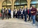 Il presidente Bonaccini in visita al centro vaccinale di Castel Bolognese, allestito alla Casa della Salute della Valle del Senio