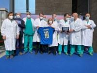 La Nazionale italiana di calcio torna in Emilia-Romagna, e rinnova il grazie a tutti gli operatori sanitari
