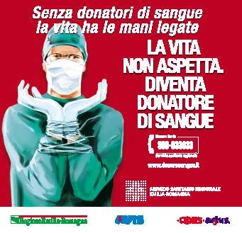 """""""Senza donatori di sangue la vita ha le mani legate"""""""