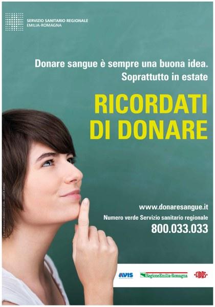 Campagna estiva di Regione Emilia-Romagna, Avis e Fidas (2017)