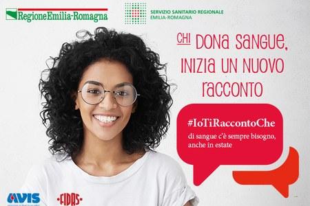 """Campagna regionale """"Chi dona sangue inizia un nuovo racconto"""" 2018"""