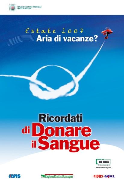"""""""Aria di vacanze? Ricordati di donare sangue"""""""