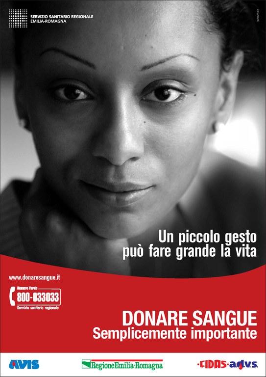 """""""Un piccolo gesto può fare grande la vita. Donare sangue: semplicemente importante"""""""