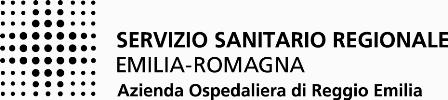 Azienda Ospedaliera di Reggio Emilia - logo in bianco e nero
